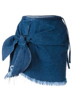 knot detail denim skirt Marquesalmeida