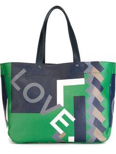 сумка-тоут с геометрическим принтом Salvatore Ferragamo