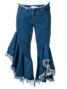 frayed ruffled jeans Marquesalmeida