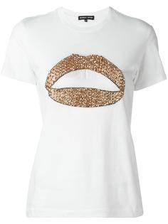 футболка с принтом губ Markus Lupfer