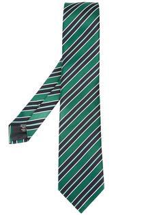 галстук в диагональную полоску Ermenegildo Zegna