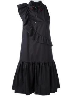 платье с вышитым воротником Vivetta