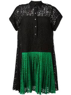 кружевное платье со складками Nº21