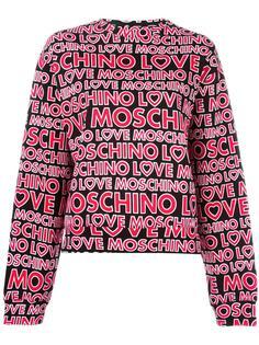 толстовка с узором из логотипов Love Moschino