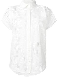перфорированная блузка с короткими рукавами Love Moschino