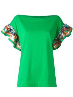 футболка с пышными рукавами Emilio Pucci