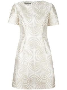 жаккардовое платье-шифт Alberta Ferretti