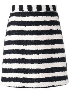 полосатая юбка из букле MSGM