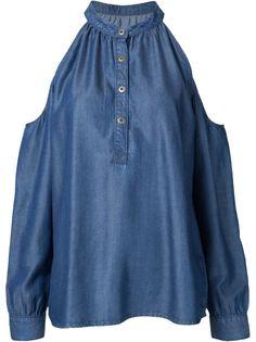 блузка с открытыми плечами Nicole Miller