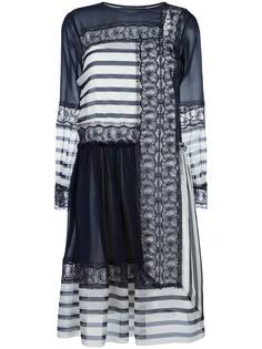 платье с контрастной панелью Alberta Ferretti
