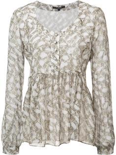 приталенная расклешенная блузка Derek Lam