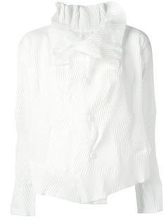 ruffle pleated blouse Issey Miyake