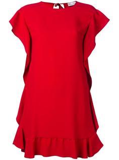 платье Ruffled Shift Red Valentino
