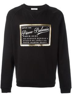 brand print sweatshirt Pierre Balmain