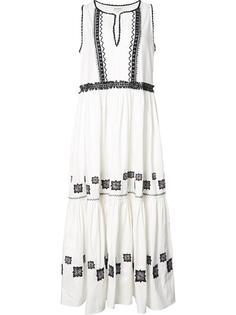 длинное платье с вышивкой Suno