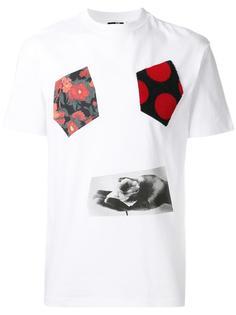 футболка со смешанным принтом McQ Alexander McQueen