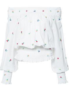 блузка с открытыми плечами Suno