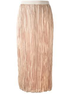 длинная юбка с мятым эффектом Agnona