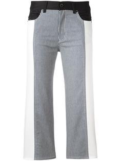 укороченные джинсы в стиле колор-блок Diesel Black Gold