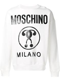 logo print sweatshirt Moschino