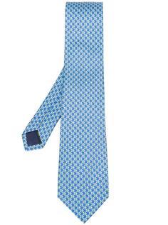 галстук с пмелким принтом Salvatore Ferragamo