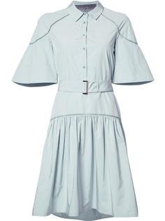 расклешенное платье-рубашка Lela Rose