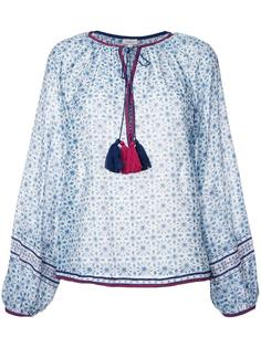 geometric print tassel blouse Talitha