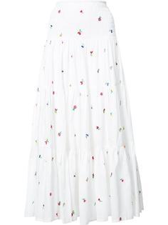 длинная юбка с вышивкой Suno