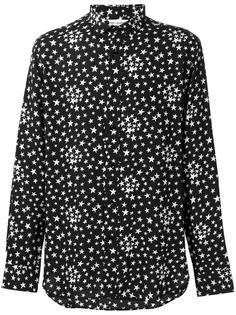 рубашка с рисунком из звезд Saint Laurent