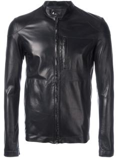 кожаная куртка на молнии Salvatore Santoro