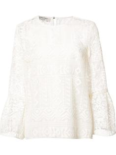 блузка с вышивкой Philosophy Di Lorenzo Serafini