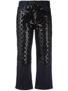 укороченные джинсы с пайетками Diesel Black Gold