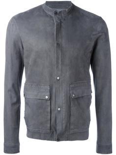 кожаная куртка на пуговицах Salvatore Santoro