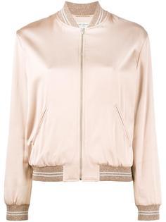 куртка-бомбер с отделкой Love Saint Laurent