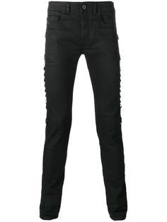узкие джинсы с ремешками по бокам Diesel Black Gold