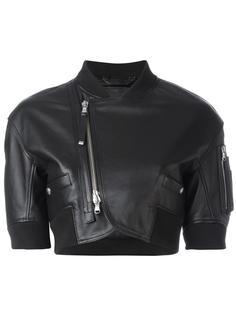 укороченная куртка со смещенной молнией Diesel Black Gold