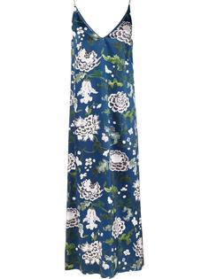 длинное платье с V-образным вырезом Adam Lippes