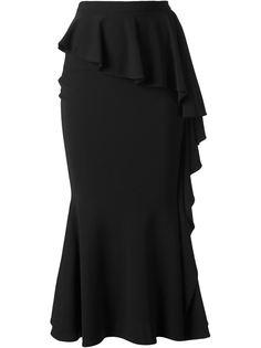 удлиненная юбка с рюшами Givenchy