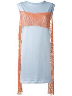 платье-футболка с неоновой вставкой Mm6 Maison Margiela