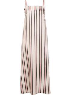 полосатое платье миди без рукавов Adam Lippes