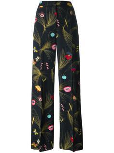 брюки с цветочным рисунком Fendi