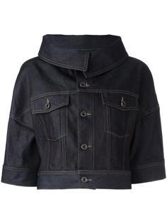 укороченная джинсовая куртка с рукавами три четверти Diesel Black Gold