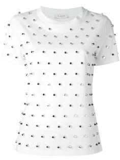 футболка с серебристыми заклепками Mugler