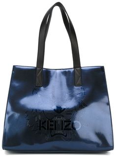 сумка-тоут TIger  с эффектом металлик  Kenzo