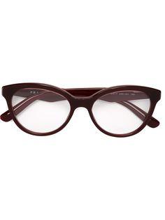 оптические очки в круглой оправе Prada Eyewear