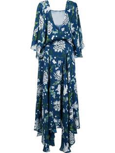 длинное платье с цветочным принтом Adam Lippes