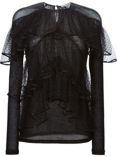 многослойная прозрачная блузка  Givenchy