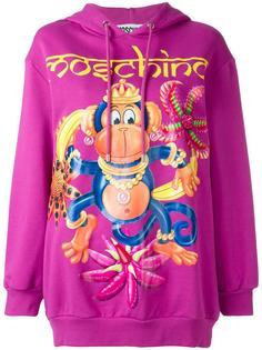 monkey print hoodie Moschino