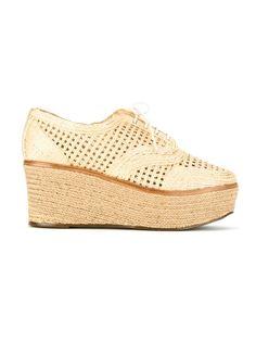 woven platform derby shoes Schutz