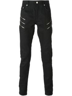 джинсы с молниями по бокам Saint Laurent